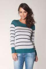Pull maille fluide rayee