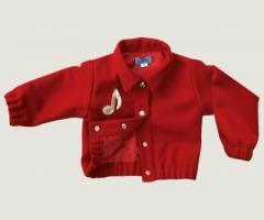 Blouson laine rouge