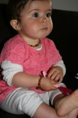 Bracelet d'ambre bébé perles plates