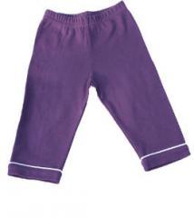 Pantalon en coton bio pour bébé prune