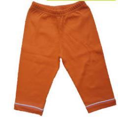 Pantalon bébé en coton bio mandarine