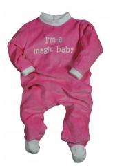 "Pyjama bebe velours, 3-24m, ""Magic baby"""