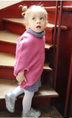 """Robe pull laine bébé fille, 18M-4A, """"Adèle"""""""