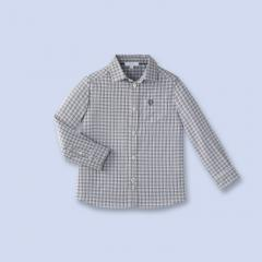 Chemise en popeline à carreaux