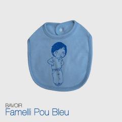 Bavoir Garcon Famelli Pou Bleu