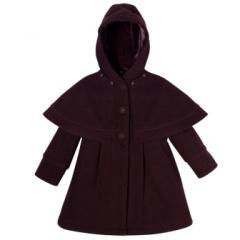 Manteau Laine chinée prune