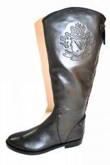 Botte Cavalière Bottes cuir gris chaussure femme