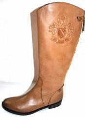 Botte Cavalière Bottes cuir taupe chaussure femme