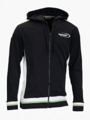 Sweat-shirt à capuche team green Kawasaki moto