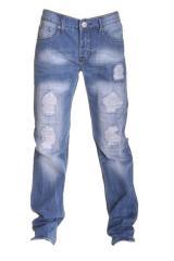 Jeans homme déchiré super fashion, délavé et poches arrières surpiquées DS-1027 (2431-k52-62)