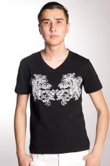 T-shirt homme avec imprimé pectoral T-015