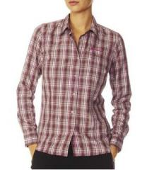 Chemise à carreaux randonnée femme Odlo