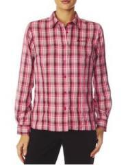 Chemise à carreaux randonnée femme Odlo Plasma