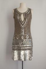 Robe lamée Bronze Faust