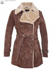Veste Cuir 3/4 Velours Oakwood Vivaldi Marron