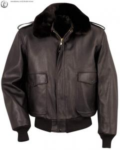 Blouson Cuir Aviateur Schott Flight 184 SM Marron