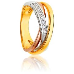 Bague 3 Ors et Diamants - Bague 3 ors et diamants 0.10 carat