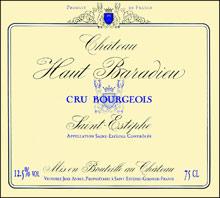 Vin Saint-Estèphe Château Haut-Baradieu