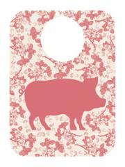 Bavoirs bébé modèle cochon éco-design