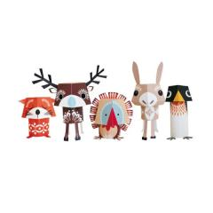 Animaux en papier recyclé Festive Friends