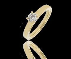 Bague solitaire diamant Eva 4 griffes - 0,29 carat