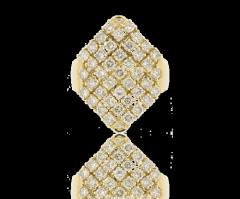Bague pavée diamants Lipaz losange diamants ronds 2,01 carats