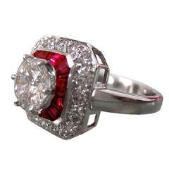 Marguerite diamants rubis