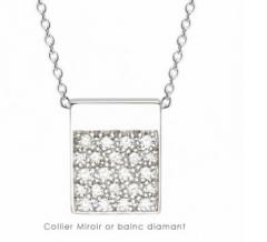 Collier Miroir or blanc diamants