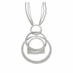 Pendentif Success Mobile en or gris pavé de diamants
