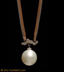 Collier Petit Nuage Perle de culture d'Australie,
