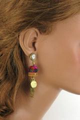 Boucles d'oreilles Corbeille de fruits Le poids du plaisir