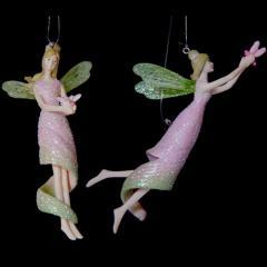 Nymph Fairy 10 cm à suspendre (x2)-vert
