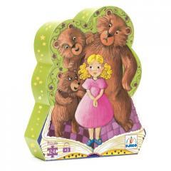"""Puzzle """"Silhouette"""" Boucle d'Or et les 3 ours"""