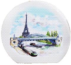 Vase disque Tour Eiffel