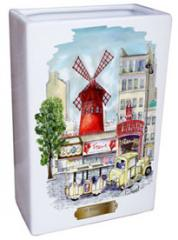 Vase rectangulaire Moulin rouge