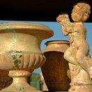 Vases Toscane  patinées