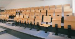 Tribune fixe avec fauteuils