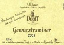 Vin gewurztraminer vendanges tardives 75cl
