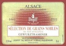 Vin gewurztraminer selection de grains nobles