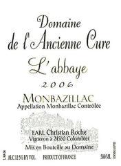 Vin Monbazillac 2006 L'Abbaye
