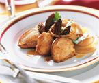 Les cuisses et filets de cailles natures et marinés