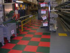 Dalles PVC pour sols Traficline Industry et Couleurs