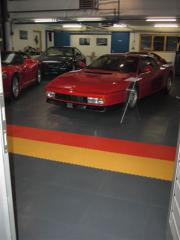Floor coatings for car parks, service stations