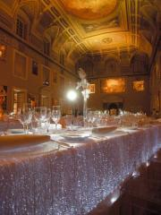 Luminous Tablcloth made of fiber optics fabric