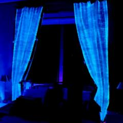 Luminous fiber optics curtains