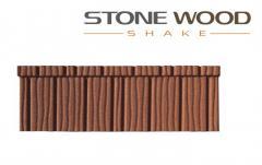 Tuile métallique Stone Wood Shake