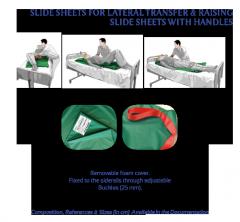 SLIDE SHEETS FOR LATERAL TRANSFER & RAISING
