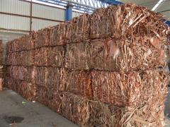 Grand stock de cuivre recyclé à vendre