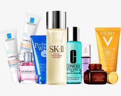 Clarins, Estee lauder, Shiseido, Revlon, Rimmel, Maybelline, Max Factor