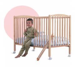 Lit bébé vernis naturel - Combelle